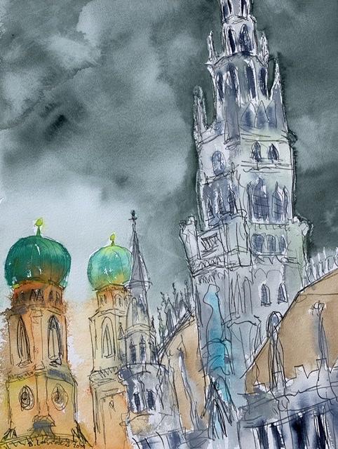 Frauenkirche und Rathaus München